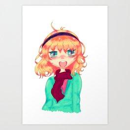 Manga girl Art Print