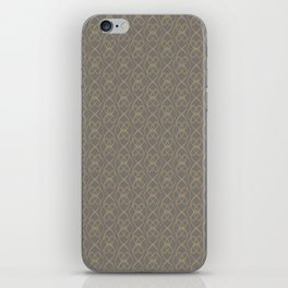 Light Gold Oval Wall on Warm Grey iPhone Skin