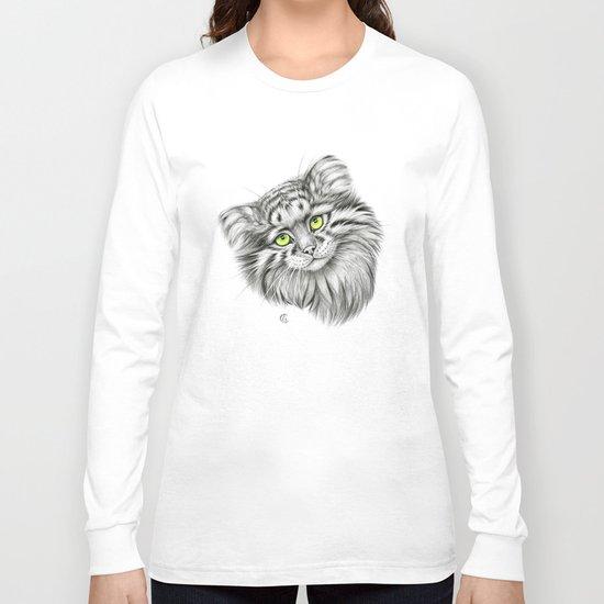 Pallas's Cat green G2012-51 Long Sleeve T-shirt