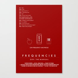 FREQUENCIES LOW FREQUENCY (ZAK - RED) CHARACTER POSTER Canvas Print