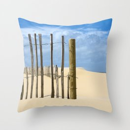 Fence in the sand Throw Pillow