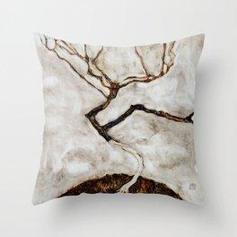 """Egon Schiele """"Small Tree in Late Autumn"""" Throw Pillow"""