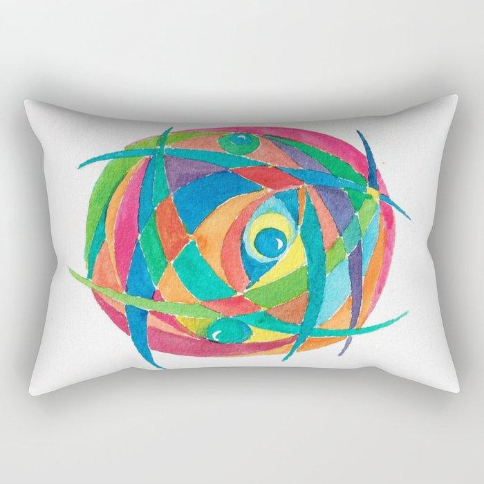 Eye Balls in Abstract Rectangular Pillow