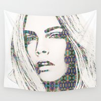 cara Wall Tapestries featuring Cara Delevigne by fashionistheonlycure