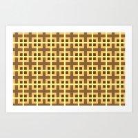 yellow pattern Art Prints featuring Pattern Yellow by BobbyK