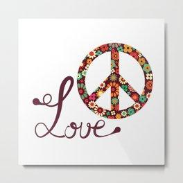 Peace - Spread The Love Metal Print