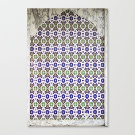 Traditional Arabic tiled drinking fountain Canvas Print