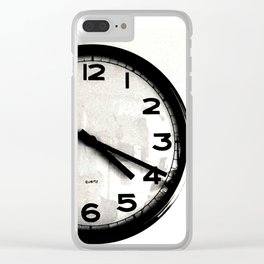 Four Nineteen Clock Clear iPhone Case