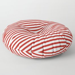 Red & White Maritime Small Stripes - Mix & Match with Simplicity of Life Floor Pillow