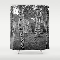 birch Shower Curtains featuring Birch Birch Birch by Luke Renoe