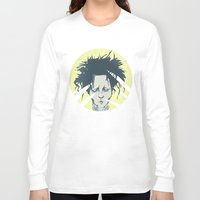 edward scissorhands Long Sleeve T-shirts featuring edward scissorhands by Berkay Daglar
