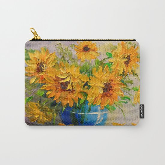 Bouquet of sunflowers in a vase Carry-All Pouch