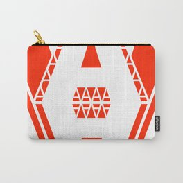 White A Carry-All Pouch