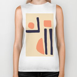 Coral and Blue Biker Tank