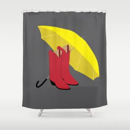 HIMYM Couples - Ted & Mother Shower Curtain