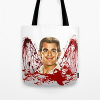 dexter Tote Bags featuring Dexter by Giampaolo Casarini