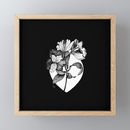 "Floral Ink Drawing ""It's In You"" Framed Mini Art Print"