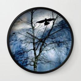Winter's Crow - Dark Crows Series Wall Clock