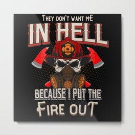 Firefighter Firedepartment Metal Print