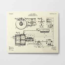 Submarine Torpedo Boat 08-1910 Metal Print