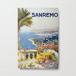 San Remo - Italy Vintage Travel Poster 1920 Metal Print