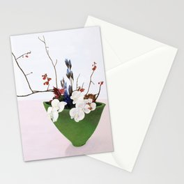 Orchids in a Green Pot Stationery Cards
