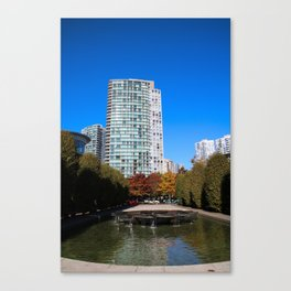 trees to breathe in the city Canvas Print