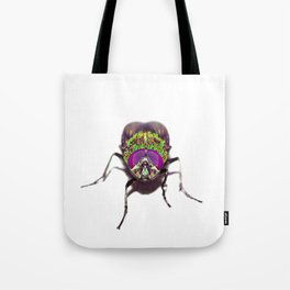 Purple Green Pschedelic Fly Tote Bag