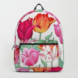 Tulips garden Backpack