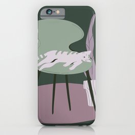 Grey Green Laziness iPhone Case