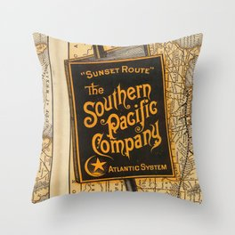 southern pacific Throw Pillow