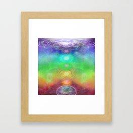 Chakra Activation Geometry Template Framed Art Print