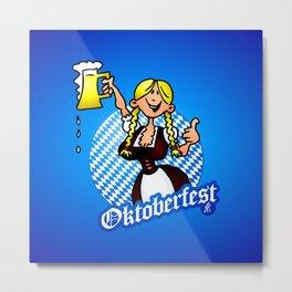 Oktoberfest - girl in a dirndl Metal Print