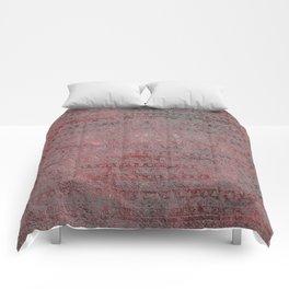 Rose Gray Velvet Foil Comforters