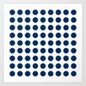 Dark blue and white polka dots pattern by sunshineprints