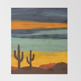 Saguaro Sunset Throw Blanket