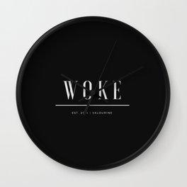Woke 2 Dark Wall Clock