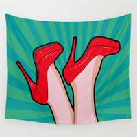 sexy Wall Tapestries featuring sexy  by mark ashkenazi