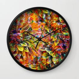 Kaleidoscope of Spring Wall Clock