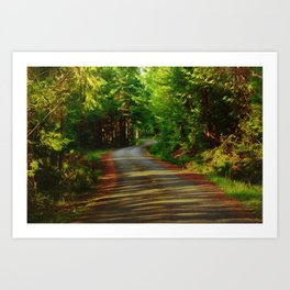 Back Country Roads Art Print