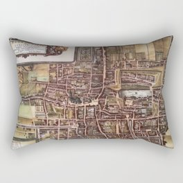 Replica city map of The Hague 1649 Rectangular Pillow
