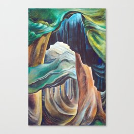 Emily Carr Forest British Columbia Painting Canvas Print