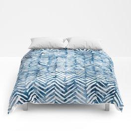 Boho Blue Shibori Tribal Pattern Comforters