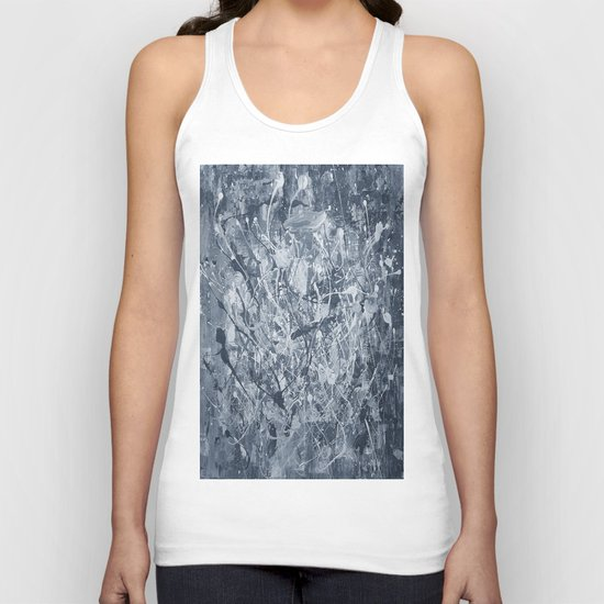 Abstract black painting Unisex Tank Top