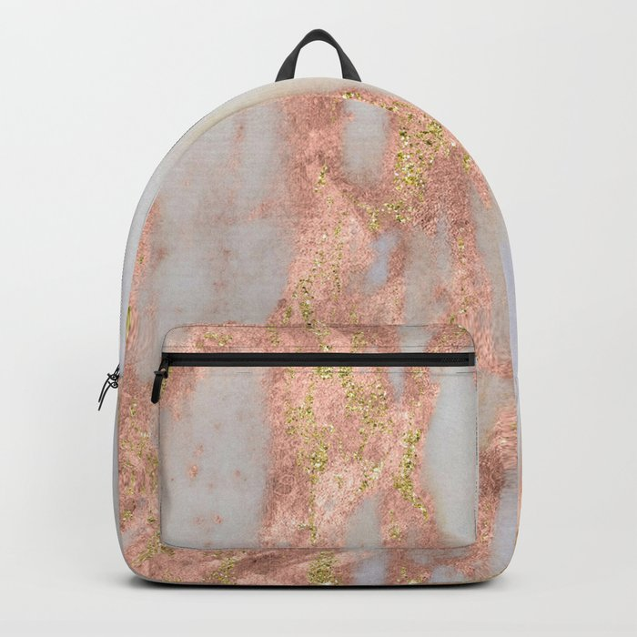 Aprillia - rose gold marble with gold flecks Backpack