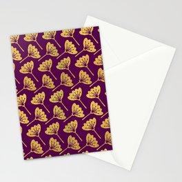 Modern Golden Florals Stationery Cards