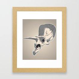 Triceraskull Framed Art Print