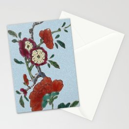 Flowering tree branch Stationery Cards