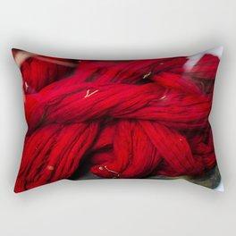 Red Dyeing Rectangular Pillow