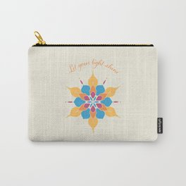 Let Your Light Shine Mandala Carry-All Pouch